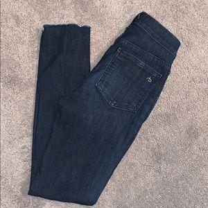 Rag and Bone dark wash skinny jeans